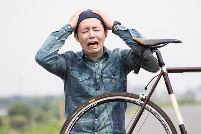 クロスバイクのフレームに傷が付いた!直せるのか?