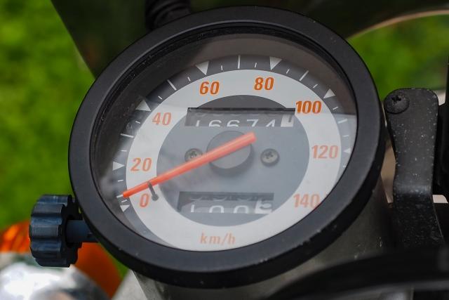 レトロな自転車のスピードメーター!アナログ針のタイプって